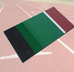 丙烯酸球场样块—环保塑胶跑道材料