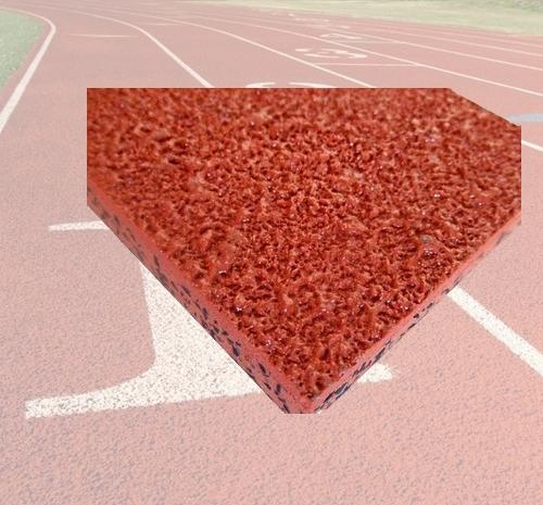自结纹塑胶跑道样块—塑胶跑道材料